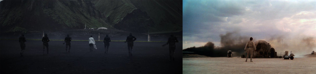 "From L to R: ""Rogue One"" (2016), ""Star Wars"" (1977)"