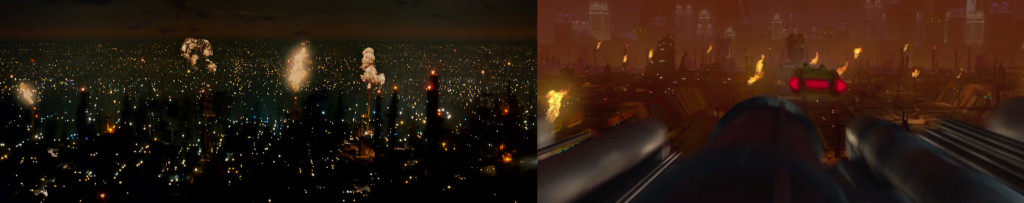 "From L to R: ""Blade Runner"" (1982), ""Attack of the Clones"" (2002)"