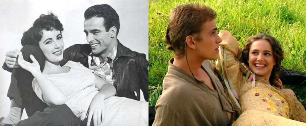 "From L to R: ""A Place in the Sun"" (1951), ""Attack of the Clones"" (2002)"
