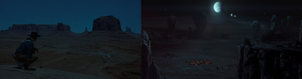 "From L to R: ""The Searchers"" (1956), ""Attack of the Clones"" (2002)"