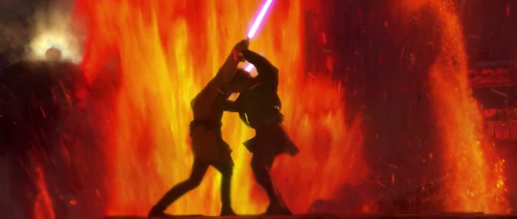 22-Anakin and Obi-Wan duel