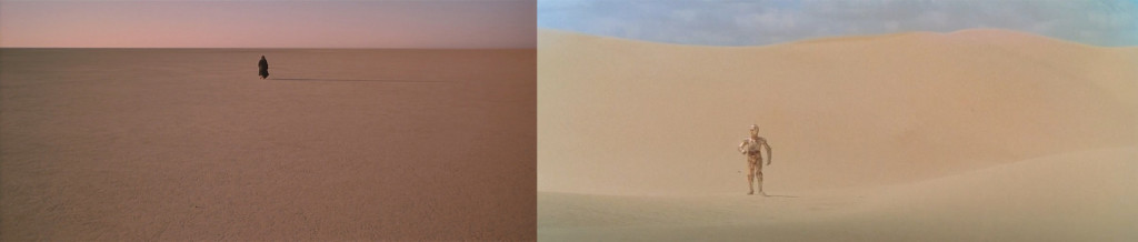 "From L to R: ""Lawrence of Arabia"" (1962), ""Star Wars"" (1977)"